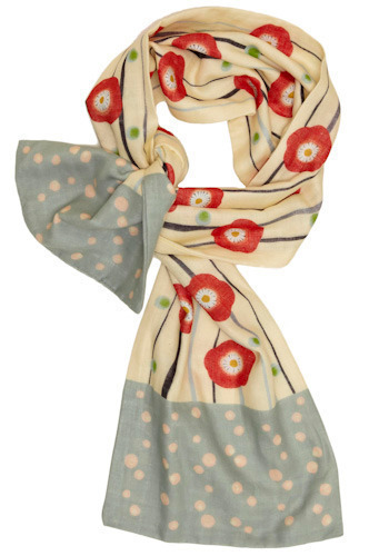 Haiku Scarf in Pretty Poppy