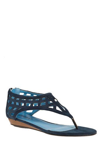 Secluded Island Sandal - Blue, Solid, Cutout, Casual, Urban, Spring, Summer, Low
