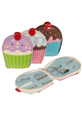 Sweeter than a Cupcake Manicure Set - Multi, Pastel, Best Seller, Best Seller, Travel, Boudoir