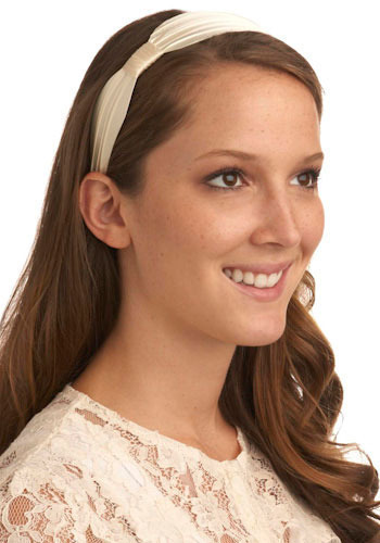 Impeccable Ivory Headband - White, Solid, Special Occasion, Prom, Wedding, Party, Work, Casual