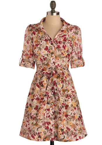 Turning Leaves Dress - Short