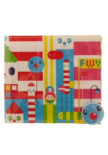 Rainbow City Wallet by Poketo - Multi, Red, Yellow, Green, Blue, Purple, Pink, Black, White, Casual