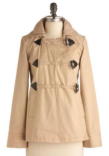 Trans-sand-dentalism Jacket by Tulle Clothing - Mid-length