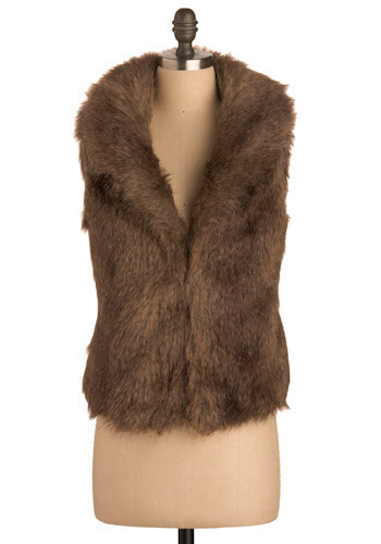 For Sure, Faux Fur Vest by Jack by BB Dakota - Short