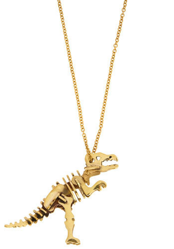 Distinct Extinction Necklace by Monserat De Lucca - Gold, Party, Work, Casual, Statement
