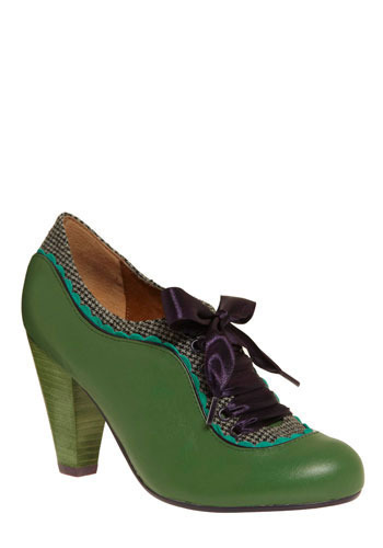About the Benjamins Heel by Poetic License - Green, Purple, Grey, Solid, Houndstooth, Bows, Scallops, Trim, Party, Casual, Show On Featured Sale, Show On Featured Sale