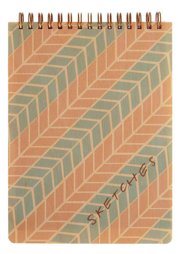 Mod Musings & Darling Doodles Notebook - Orange, Blue