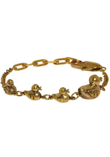 Ducks in a Row Bracelet by Monserat De Lucca - Gold, Party, Work, Casual