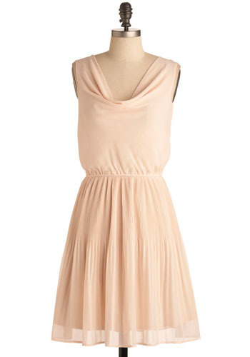 Bunch of Fun Dress in Daybreak - Pink, Solid, Pleats, Special Occasion, Wedding, Party, Casual, Vintage Inspired, A-line, Sleeveless, Mid-length