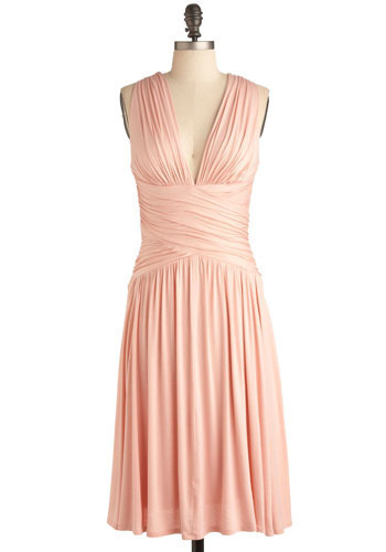 Winery Tour Dress - Pink, Solid, Cutout, Special Occasion, Prom, Wedding, Party, Empire, Sleeveless, Long