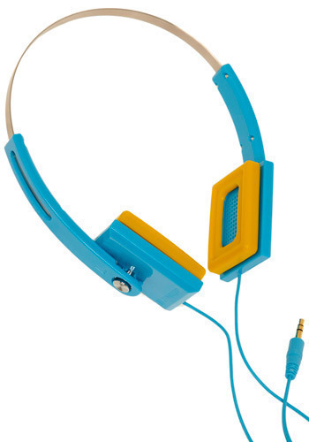 Sound Stacks Headphones in Baby Blue - Blue, Yellow, Work, Casual, Vintage Inspired, 80s