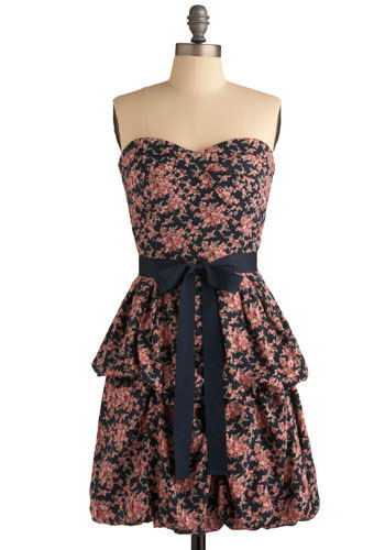 Drape Expectations Dress - Blue, Pink, Multi, Floral, Bows, Tiered, Casual, Shift, Sleeveless, Spring, Summer, Short