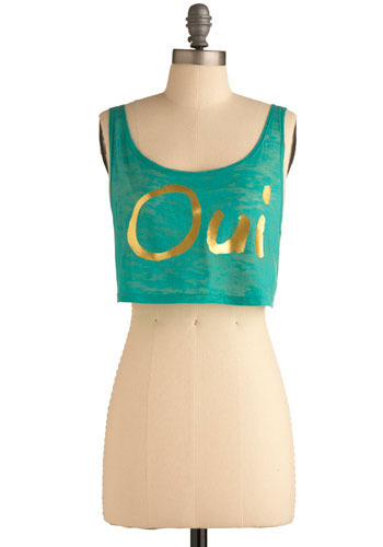 Oui Love Paris Crop Top - Short