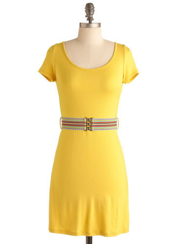 Yellow I Love You Dress