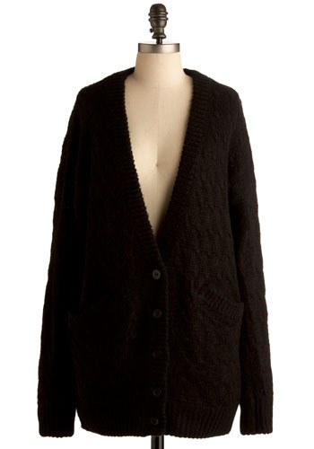 Couldn't Be Cozier Cardigan - Black, Buttons, Knitted, Pockets, Work, Casual, Long Sleeve, Fall, Winter, Mid-length