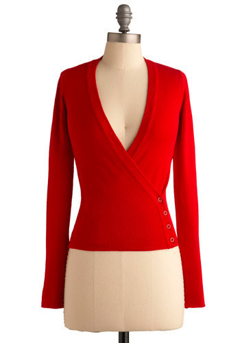 Taking Sides Top - Red, Solid, Casual, Long Sleeve, Short