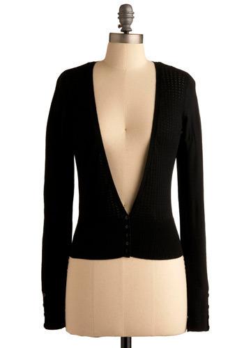 Keep it Simple Cardigan in Black - Black, Solid, Long Sleeve, Fall, Short