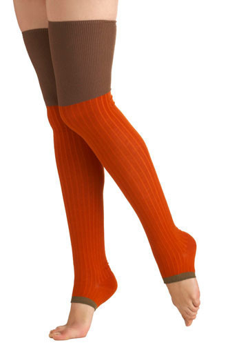 Pumpkin Patch Socks - Knitted
