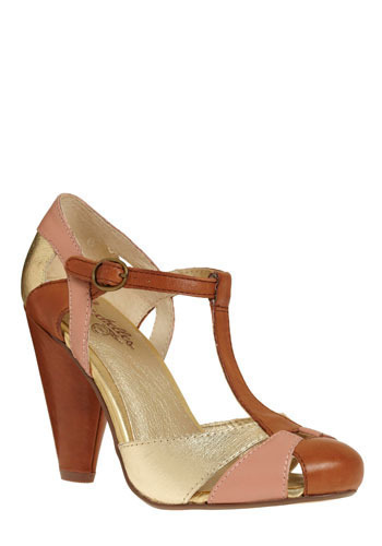 Countdown Heel by Seychelles - Tan, Pink, Gold, Daytime Party, High, Better, T-Strap