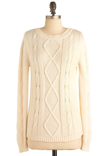 Basic Cable Sweater by Jack by BB Dakota - Mid-length