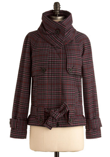 Purple Plaid Majesty Coat by Jack by BB Dakota - Mid-length