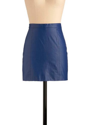 vintage movin like electric blue skirt mod retro