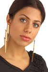 Very Striking Earrings - Gold, Party, Work, Casual, Statement