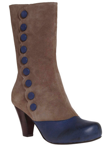 Blue Button Beauty Boot by Jeffrey Campbell
