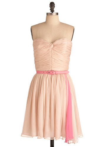HOLD VP - Pink Dress with Belt - Short