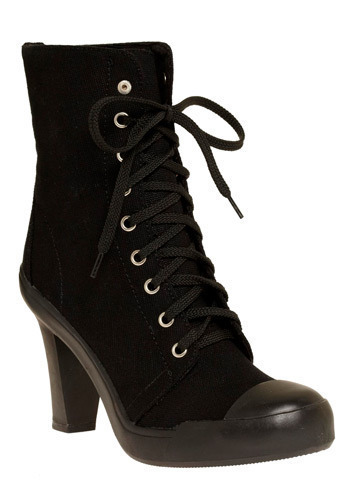 Let's Rock Boot - Black, Solid, Party, Casual