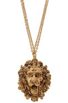Big Cat on Campus Necklace - Gold, Chain, Casual, Statement