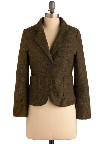 Olive or Nothing Jacket by Dear Creatures - Short