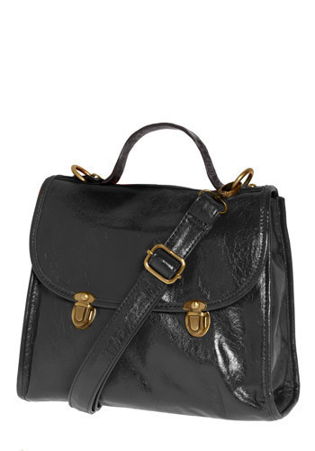 Before the Dawn Satchel - Black, Solid, Buckles, Casual, Urban