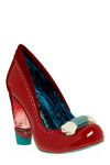So Very Cherry Heel by Irregular Choice - Red, Blue, Bows, Knitted, Special Occasion, Wedding, Party, Casual, Statement