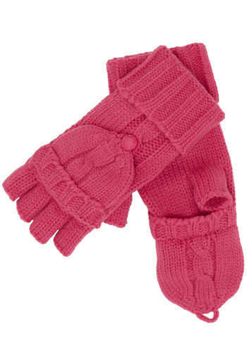 Under the Cable Knit Gloves in Pink by Tulle Clothing