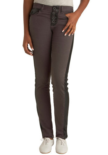 "Nocturnal Daybreak Jeans (32"") by Cheap Monday - Grey, Black, Long"