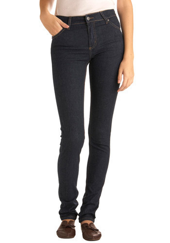 "Blue Jeans Delight in Long (34"") by Cheap Monday - Blue, Solid, Long"