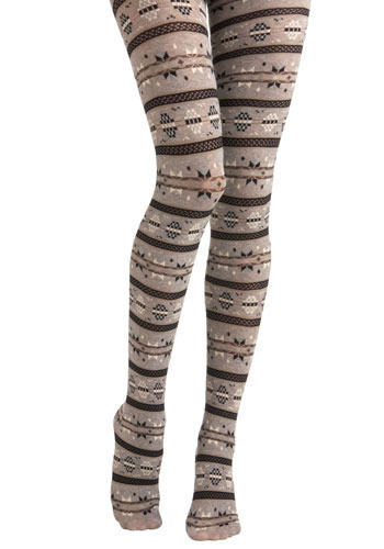 Snow Bunny Tights - Knitted