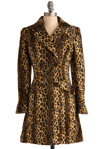 You've Been Spotted Coat - Tan, Multi, Brown, Black, Animal Print, Casual, Statement, Urban, Long Sleeve, Fall, Winter, Long, 2
