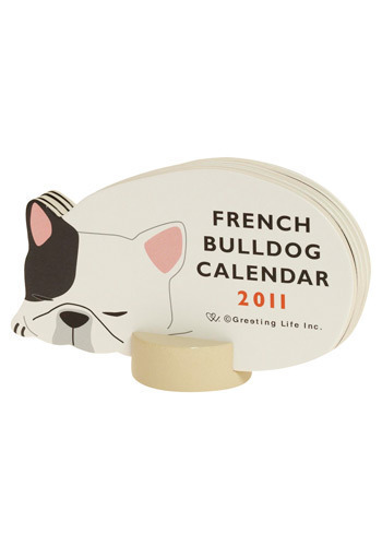 Year of the French Bulldog Desk Calendar