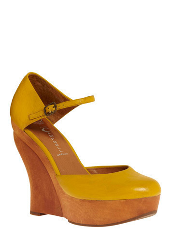 Good Morning Sunshine Wedges by Jeffrey Campbell - Yellow, Tan / Cream, Casual, Spring, Summer, Wedge