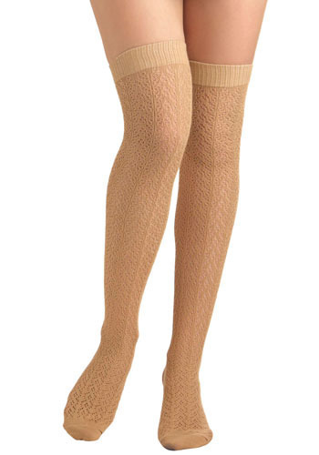 Cafe Au Lait Socks - Knitted