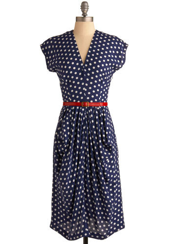 Pardon Me, Boys Dress - Blue, Red, White, Polka Dots, Casual, Nautical, A-line, Short Sleeves, Spring, Summer, Long