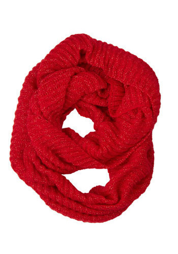 A Sprinkle of Shine Scarf in Scarlet