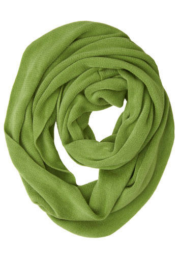 Circle Yes or No Scarf in Green
