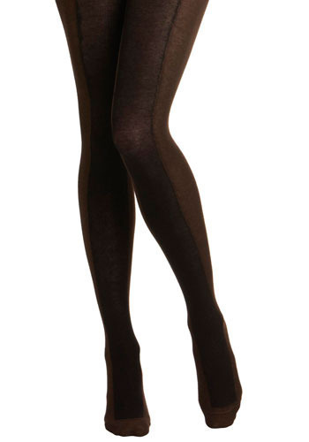 Marvelous Match Tights - Brown, Solid, Casual
