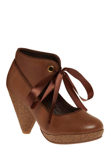 Maple Crepe Heel - Brown, Solid, Casual, Luxe, Urban, Fall