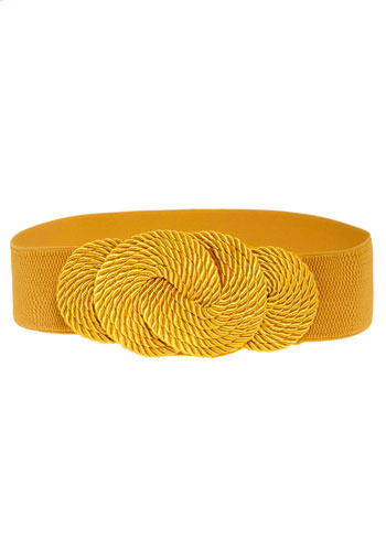 Tying it All Together Belt in Yellow