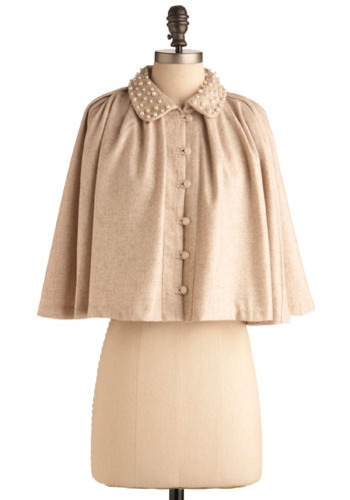 Cape May - Brown, Cream, Solid, Buttons, Pearls, Special Occasion, Wedding, Party, Vintage Inspired, Urban, 3/4 Sleeve, Short