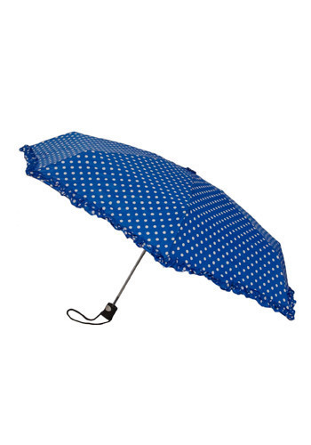 Heads Down Umbrella Up - Blue, White, Polka Dots, Ruffles, Casual, Statement, Spring